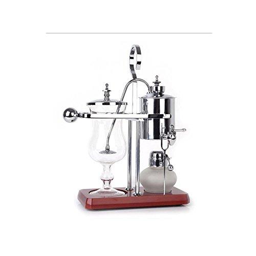 Máquina de café manual hogar café de pote belga regalo caja fija real Bélgica sifón cafetera con alta calidad , Silver
