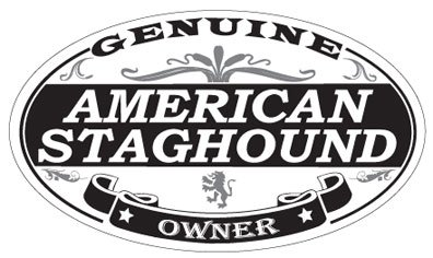 US Decal, Inc. American Staghound Oval Sticker 2