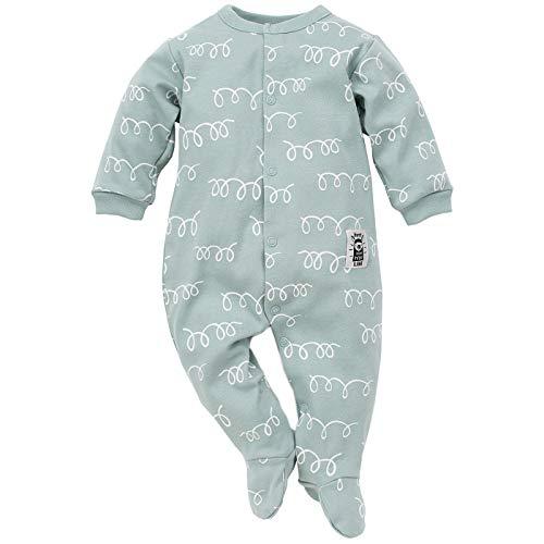 Pinokio - Happy Llama - Baby Schlafanzug 100{d9ca331dbc287aefd29df181e123996da947bae1d35876d90710d663aea63474} Baumwolle - Unisex Jungen Mädchen Schlafanzug Einteilig - Strampler - Overall Weiß Mint Türkis Orange (62 cm, Türkis)