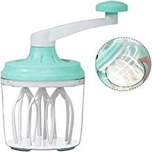 TXZWJZ Manual whisk Beaters for Hand Mixer - Egg Beater Hand Crank Home Kitchen Hand-cranked Egg Beater Mixer Aiyufei Green