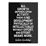 Calvin Coolidge on 'Growth' Motivational Quote –