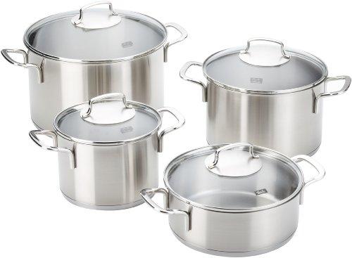 Fissler 8211304001 Florenz - Batería de Cocina con Tapas de Cristal (4 Unidades...