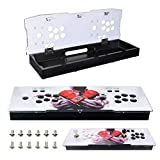 TAPDRA DIY Acrylic Panel and Metal Arcade Case kit for 2 Player 2P Joysticks Replacement Arcade Game Machine Cabinet Controller Arcade Stick Empty Box