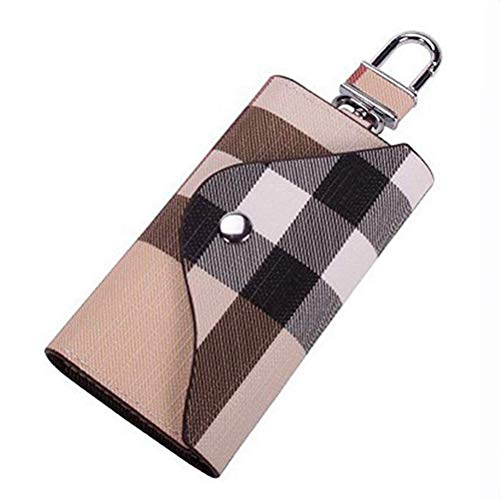 Key Holder Case, Key Case wallet Portable PU Leather Car Key Chain Purse key holder organizer with 6 Hooks for Men Women