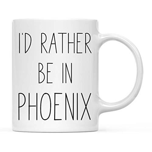 N / A Geschenk für eine Kaffeetasse in der US-Stadt, ich wäre eher in Phoenix, Arizona, 1er-Pack, Fernstudium, das im Ausland studiert