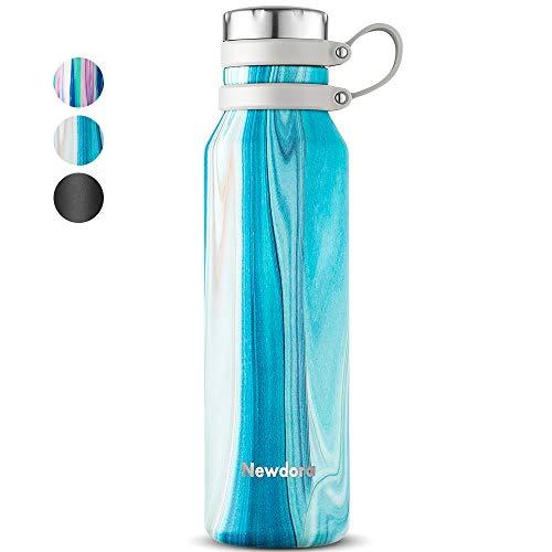 Newdora Botella de Agua Acero Inoxidable 750ml, Botellas de Frío/Caliente, Botella Termica con 1 un Cepillo de Limpieza, Botella Reutilizable para Deporte, Oficina, Gimnasio, Ciclismo