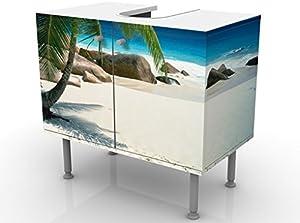 Mobile per lavabo design Dreamy Beach 60x55x35cm, basso, Larghezza: 60cm, regolabile, mobiletto da lavandino, lavandino, mobiletto da lavabo, lavabo, mobiletto, bagno, bagnetto, mobile da bagno