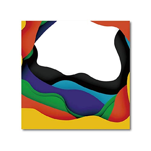 3D abstracte achtergrond met gesneden vormen poster afdrukken zakelijke presentatie flyer sjabloon muurkunst afbeelding decor canvas schilderij 40x40cm geen lijst