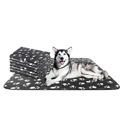 Nobleza - 6 x Hundedecke Weiche Fleecedecke Waschbare Deck für Haustier Hunde Katzen Welpen Weiche Warme Matte, Schwarz,160 * 100cm