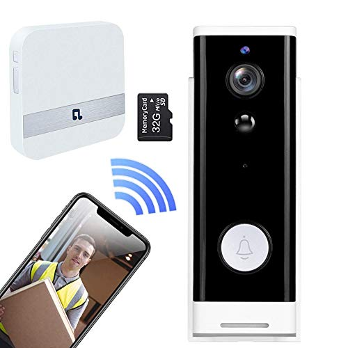 Smart Peephole Viewer Visual Doorbell Work with Alexa and Chime, 1080P...