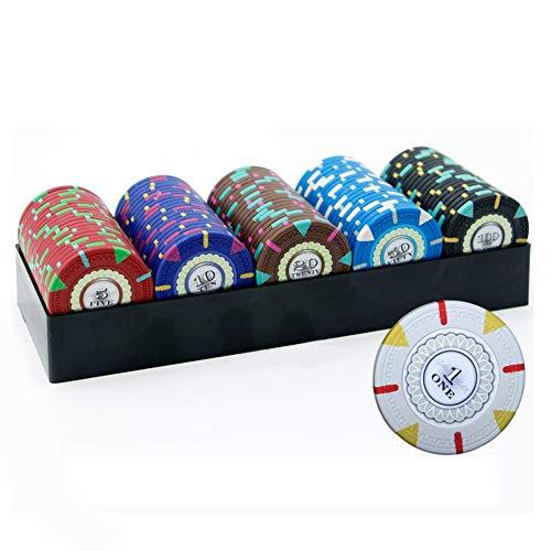 YYHJ Caja da Fichas de Póquer 100 Fichas Bandeja de Fichas de Póquer Transparente Caja de Almacenamiento de Chips Sin Coberturaa Utilizada para Fiestas,Casinos