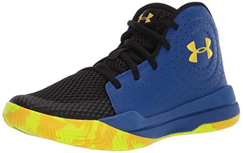 Under Armour Kids' Pre School Jet 2019 Basketball Shoe, Royal (404)/Black, 6