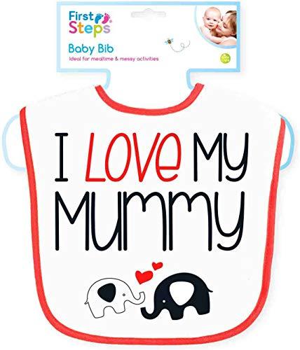 First Steps Bavoir pour bébé Inscription I Love My Mummy/Daddy 0-6 mois