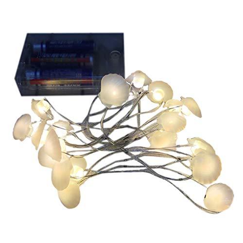 Desconocido moregirl Christmas 2020 Shell Muñeco de Nieve Sujetador de árbol de Navidad Cadena de lámpara de Alambre de Cobre