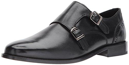 Nunn Bush Men's Norway Plain Toe Double Monk Slip-On, Black, 11 W US