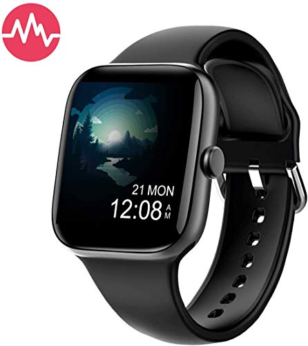 KUNGIX Orologio Fitness Tracker, Smartwatch Activity Tracker Uomo Donna Cardiofrequenzimetro da, Polso Pressione Sanguigna Impermeabile IP68 Smartband Braccialetto per Android iOS Xiaomi Huawe