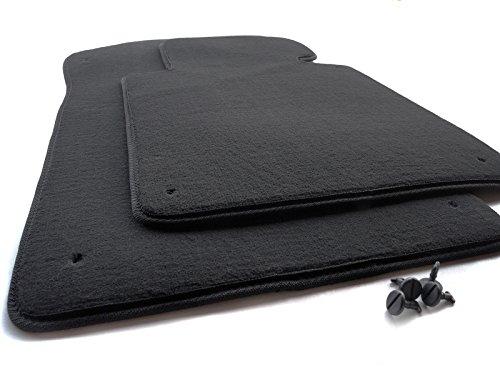 BMW - Tappetini in velluto per BMW serie 3 E46 M3, 2 tappetini anteriori, colore: nero