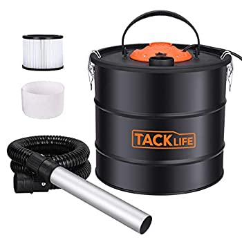TACKLIFE Ash Vacuum Cleaner Ash VAC Canister 5 Gallon Capacity 800W Power Bagless Debris/Dust/Ash Collector Suitable for Grill Fireplace Wood Stoves and Pellet Stove