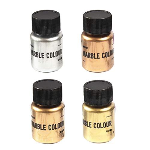Geneic 4 Color Espejo Metal Textura Perla Polvo Epoxi Resina Colorante Brillo Mármol Metálico Pigmento Resina Tinte Joyería Hacer
