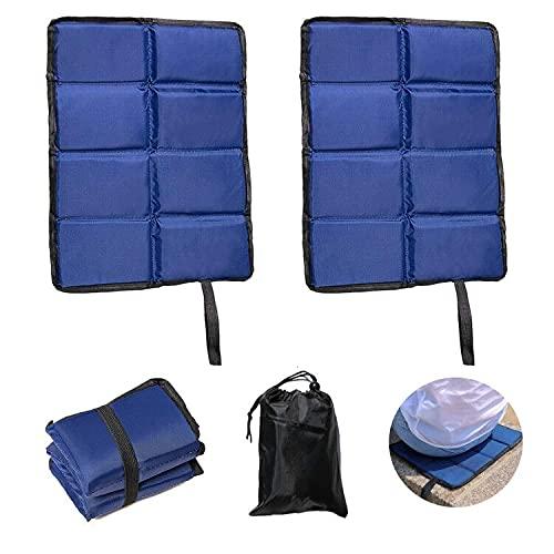 Micacorn Faltbares Sitzkissen, Tragbare Feuchtigkeitsbeständige Sitzpolster, 2 Stück Ultraleichte Oxford-Stoff Klappbare Sitzmatte Inklusive Tasche für Outdoor, Camping, Wandern