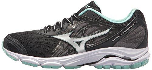 Mizuno Wave Inspire 14 Chaussures de Course pour Femme Noir - Noir - Noir/argenté, 38.5 EU