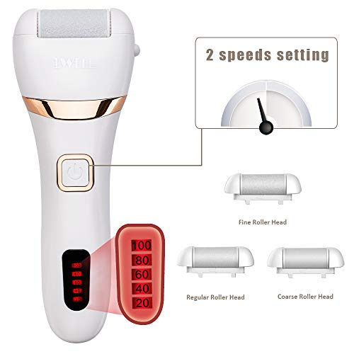 Electric Callus Remover, Rechargeable Foot File Hard Skin Remover Pedicure Tools for Feet Electronic...