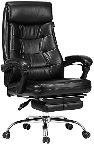 LTHDD Office Swivel Chair Seat Work Chair Reclining Chef Chair Computer Chair Home Leather