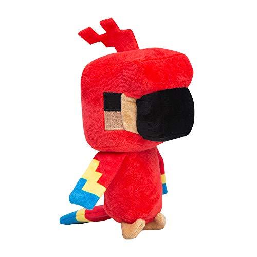 Minecraft- Peluche Loro Explorador, Color rosso (JNX 889343107207) , color/modelo surtido