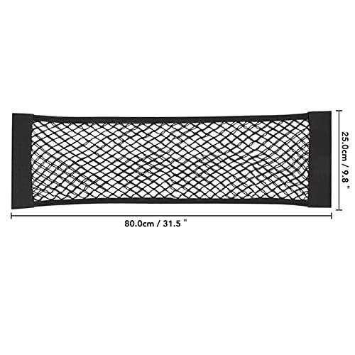 XUEXIU Back Tronco Posteriore Sedile Elastic String Net Magic Sticker Maglia Borsa da Stoccaggio Pocket Cage Organizer Sedile Back Bag (Color : 80x25cm1pc)
