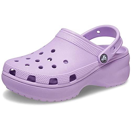 Crocs Women's Classic Clog | Platform Shoes, Orchid, 7