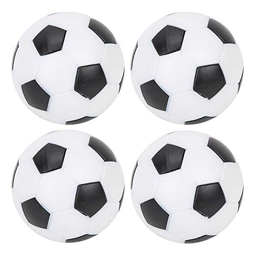 Huairdum 32mm Table Football Small Football, Table Soccer Footballs Replacement Mini Plastic Black and White Soccer Ball for Foosball Tabletop Game Foosball Accessory (4 pieces)