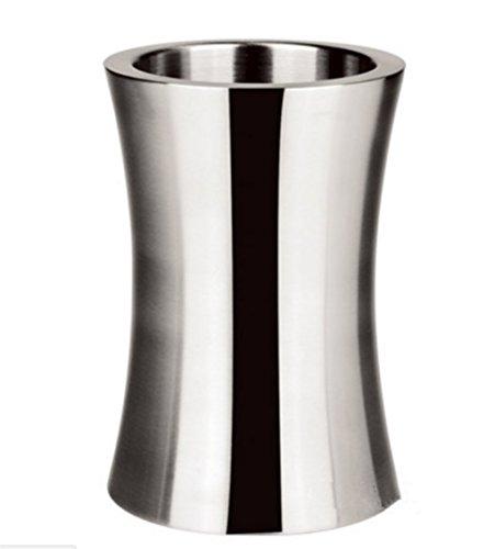ワインクーラー ステンレス 製 二重構造 おしゃれ な湾曲型タイプ ボトルスタンド ボトルクーラー