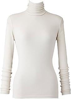 天使の綿シフォン レディースハイネック長袖