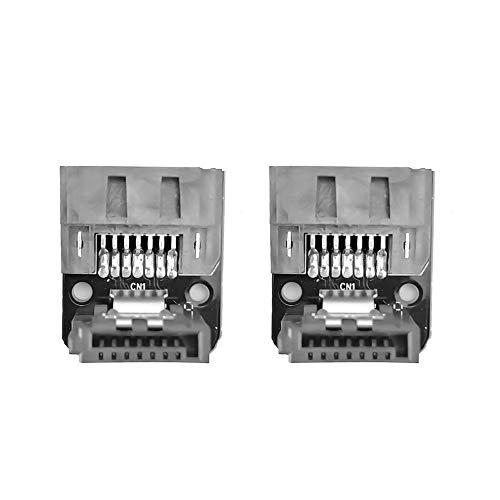 2 uds SATA 7 Pines Hembra a 7 Pines Macho Adaptador en ángulo de 90 Grados Placa Base Placa Base SATA Serial ATA Cable de Datos con Bloqueo de Bloqueo