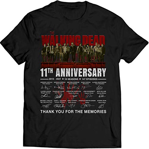 BabyElephant 11th Anniversary 2010 2021 Thank You for The Memories Character Signatures T Shirt Walking Dead Lovers T Shirt