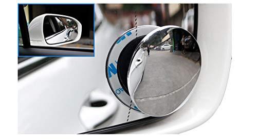 Espejos De Punto Ciego Para Automóvil; Espejos Convexos De Gran Ángulo. Espejo Adhesivo Circular. Espejos De Vista Ajustables. Set De 2.