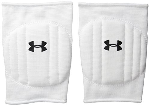 Under Armour Unisex Armour Volleyball Knee Pad, White/Black, Large/X-Large