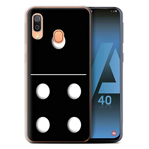eSwish Phone Case/Cover/Skin/SG-GC/Dominoes/Dominos Collection Samsung Galaxy A40 2019 Zwarte tegel 1/4