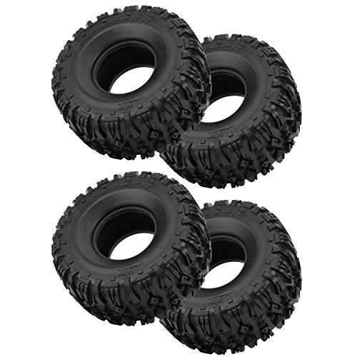 Neumáticos de Goma para Ruedas RC Que se Ajustan a Accesorios RC Resistentes Neumático RC Durable 4 Piezas Llantas de Rueda y neumáticos de Goma para SCX10 RC Escalada Crawler