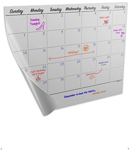 Desk Calendar Desk Planner, dry erase markers will erase after 365+ days- Tested | Plan you Goals, Organise your days