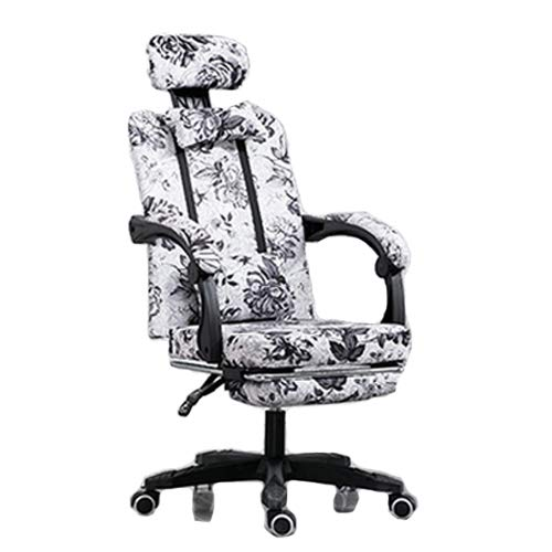 Liegende Bürostuhl, Executive Swivel Office Chair mit Footrest, Ergonomic Adjustable High Back Office Armchair Computer Napping Swivel Chair,Ink