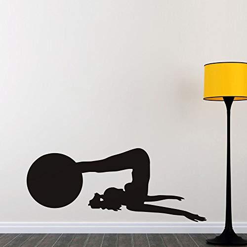 Dame Spelen Yoga Vinyl Muurstickers Waterdicht Ontwerp Thuis Fitness Kamer Verwijderbare Art Decal voor Gym Achtergrond Kid Slaapkamer 43 * 104cm