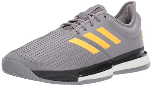 adidas Herren Solecourt Boost M, Graue DREI-/Blitz Orange/Carbon, 45 EU