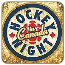 Hockey Night in Canada Vintage Retro Metal Wall Decor Art Shop Man Cave Bar Garage Aluminum 12x12 inch Sign