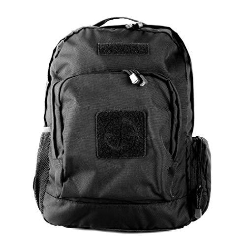 LA Police Gear 600D Polyester Hydration Compatible Commuter/School Pack - Black