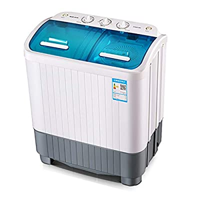 Portable Mini Twin Tub Washing Machine Washer and Spin Dryer Combo Compact for Camping Dorms Apartments, Washing Capacity 5.6kg, Drying Capacity 5kg