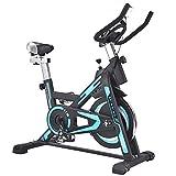 ZHANGY Bicicleta estática de Interior Bicicleta de Ejercicios para el hogar y Entrenador de Abdominales, Equipo Deportivo, Entrenador de Cardio Ideal Carga 200 kg,Negro