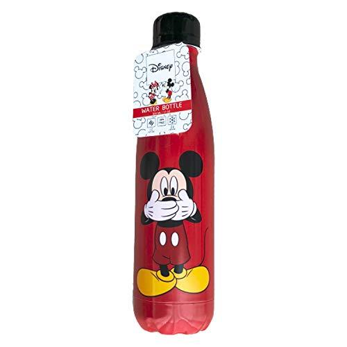 Botella Termica Mickey Mouse - 500ML Botella de Agua de Acero Inoxidable - Aislamiento de Vacío de Doble Pared - Botella de Frío/Caliente Sin BPA & Eco Friendly