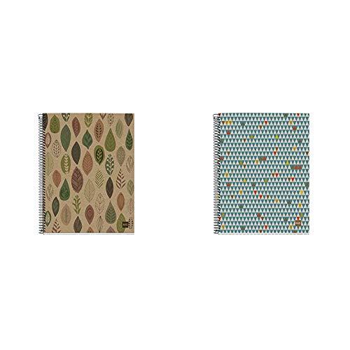 MIQUELRIUS - Cuaderno Notebook 100% Reciclado - 4 franjas de color, A5, 120 Hojas cuadriculadas + Cuaderno Notebook 100% Reciclado - 4 franjas de color, A5, 120 Hojas cuadriculadas 5mm, Papel 80 g