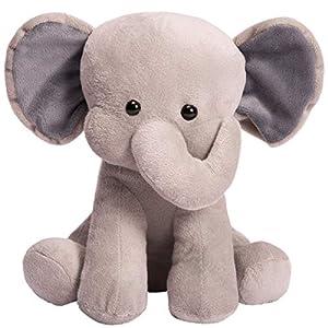 HollyHOME Stuffed Animal Toys Plush Toys Plush Elephant 10 Inches Grey